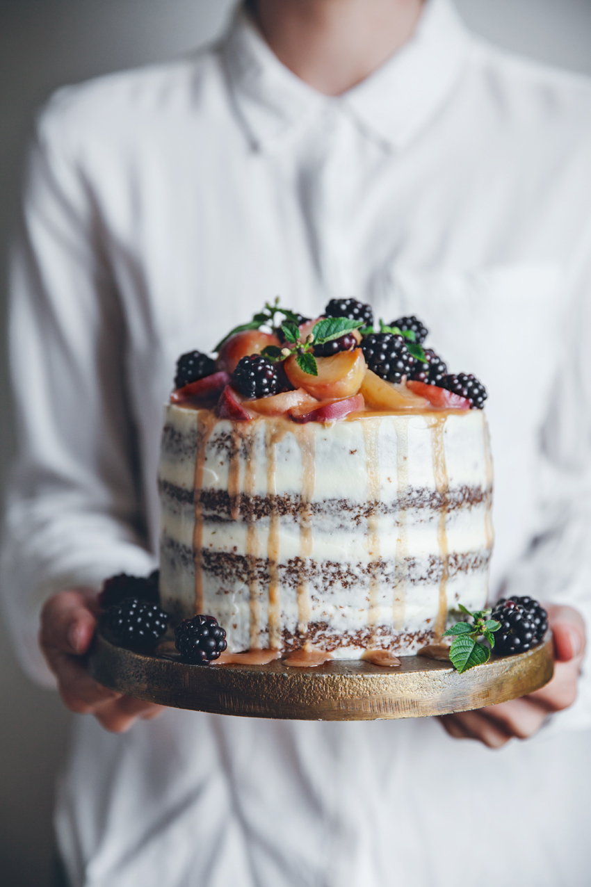 Cool A Peach Carrot Cake With Cream Cheese Frosting A Saveur Blog Personalised Birthday Cards Bromeletsinfo