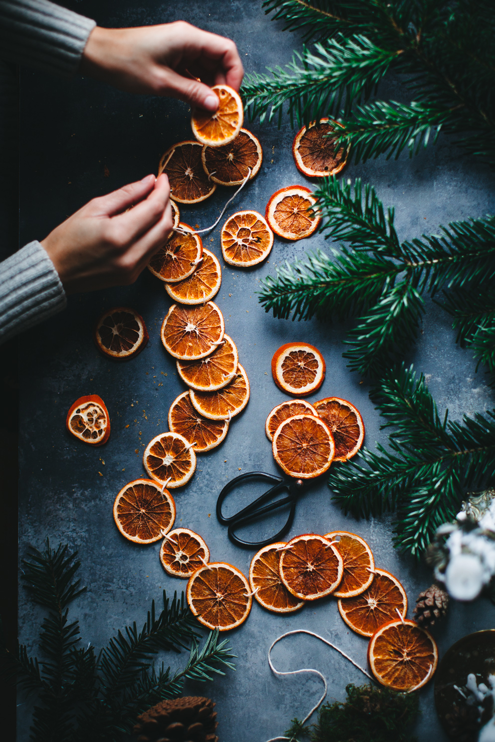 How To Make A Dried Orange Garland Call Me Cupcake